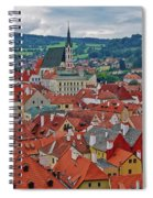 A View Of Cesky Krumlov In The Czech Republic Spiral Notebook