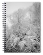 Abstract Scenes At Ski Resort During Snow Storm Spiral Notebook