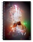 An Obscene Hand Sign Spiral Notebook
