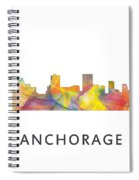 Anchorage Alaska Skyline Spiral Notebook
