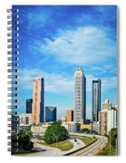 Atlanta Downtown Skyline With Blue Sky Spiral Notebook