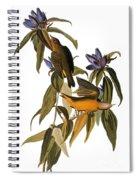 Audubon: Warbler, (1827-38) Spiral Notebook