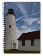 Bakers Island Lighthouse Salem Spiral Notebook