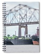 Baton Rouge Louisiana City Skyline And Surrounding Views Spiral Notebook