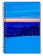 Beautiful Winter Landscape At Timberline West Virginia Spiral Notebook