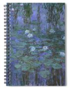 Blue Water Lilies Spiral Notebook