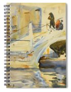 Bridge With Figures Spiral Notebook