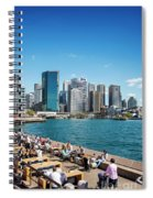 central sydney CBD  area skyline and circular quay in australia Spiral Notebook