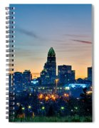 Charlotte North Carolina Early  Morning Sunrise Spiral Notebook
