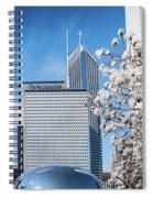 Chicago Bean Millenium Park Spiral Notebook