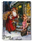 Christmas Card Spiral Notebook