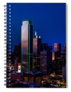 Dallas At Dusk Spiral Notebook