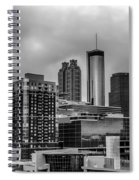 Downtown Atlanta, Georgia Usa Skyline Spiral Notebook