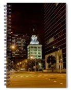 Downtown Tampa Florida Skyline At Night Spiral Notebook