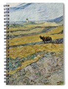 Enclosed Field With Ploughman Spiral Notebook