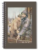 Hauling In The Net Henry Meynell Rheam Spiral Notebook