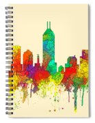 Indiana Indianapolis Skyline Spiral Notebook