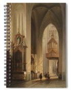 Interior View Of Namur Cathedral Spiral Notebook