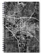 Iowa City Map Spiral Notebook