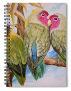 Flygende Lammet     Productions          5 Lovebirds Sitting On A Twig Spiral Notebook