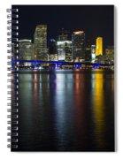 Miami Downtown Skyline Spiral Notebook