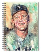 Mickey Mantle Portrait Spiral Notebook