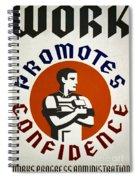 New Deal: Wpa Poster Spiral Notebook