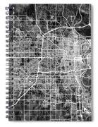 Omaha Nebraska City Map Spiral Notebook