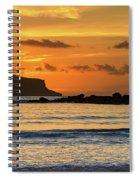 Orange Sunrise Seascape Spiral Notebook