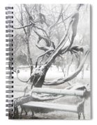 Park During Heavy Snowfall  Spiral Notebook