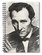 Peter Cushing, Vintage Actor Spiral Notebook