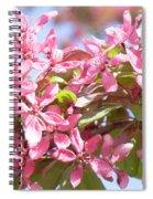 Pink Cherry Flowers Spiral Notebook