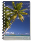 Polynesian Beach With Palms Spiral Notebook