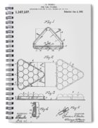Pool Table Triangle Patent From 1915 Spiral Notebook