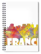 San Francisco California Skyline Spiral Notebook
