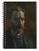 Self-portrait With Pipe Spiral Notebook