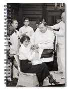 Silent Still: Barber Shop Spiral Notebook
