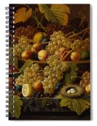 Still Life With Fruit Spiral Notebook
