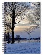 Sunset Over Obear Park In Snow Spiral Notebook