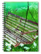 Swing In The Daisies Spiral Notebook