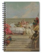 The Banquet Of Cleopatra Spiral Notebook
