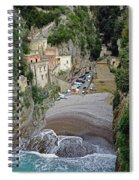 This Is A View Of Furore A Small Village Located On The Amalfi Coast In Italy  Spiral Notebook