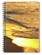 The Wave In Blue Spiral Notebook