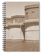 5 Towers Of Lake Murray Sc Sepia Spiral Notebook