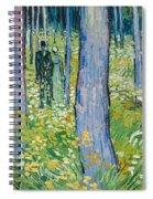 Undergrowth With Two Figures Spiral Notebook