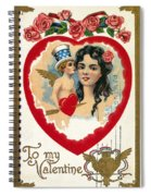 Valentines Day Card Spiral Notebook