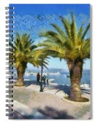 Walkway In Nafplio Town Spiral Notebook