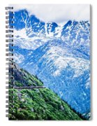 White Pass Mountains In British Columbia Spiral Notebook