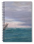 Yachts In A Stormy Sea Spiral Notebook