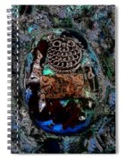 Abstract Orgone Spiral Notebook